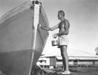 Superintendant Goodlad and his boat, 1953