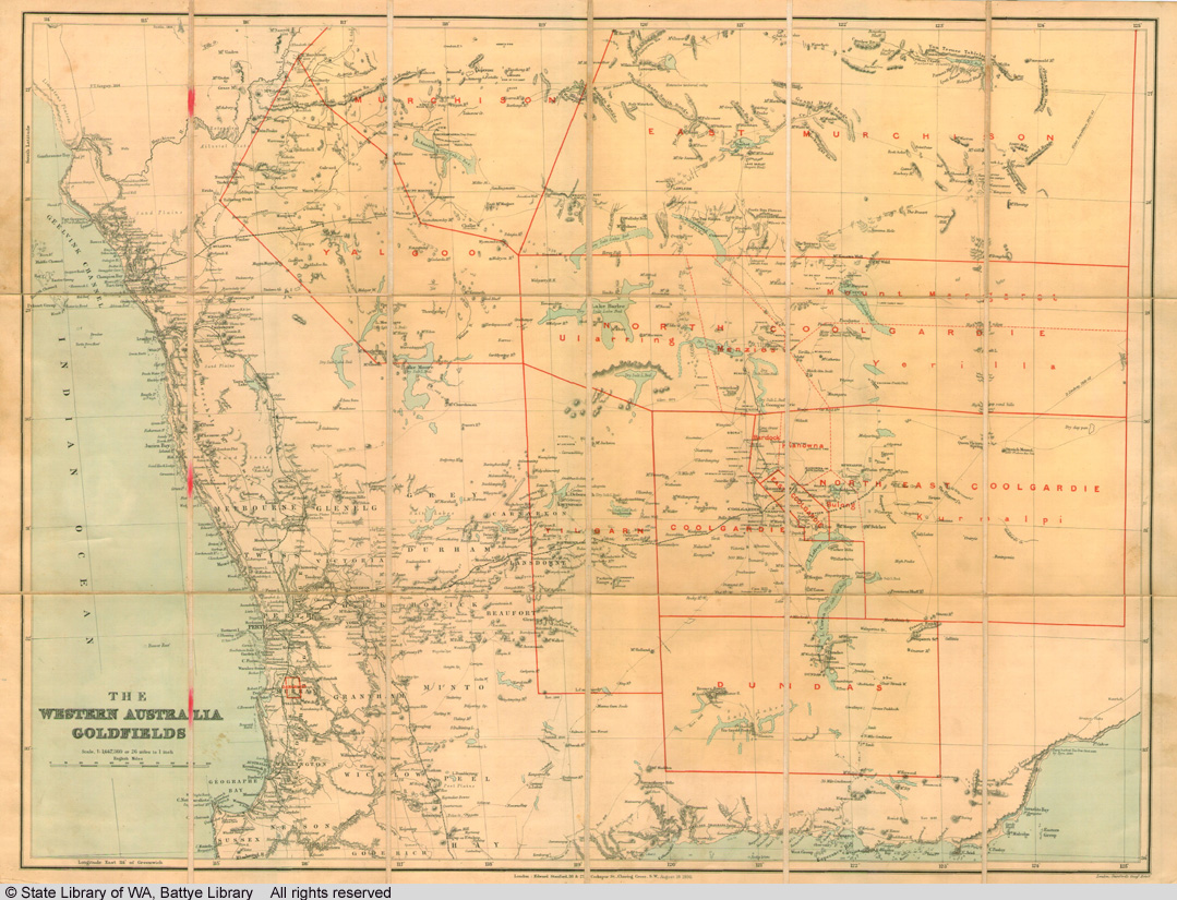 Map Of Western Australia 26th Parallel.Download
