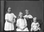 Studio portrait of the Jensen children, Kalgoorlie