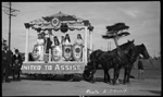 111755PD: Horse float in procession, 1924
