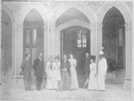 Governor Sir Alexander Onslow, Lady Onslow, their daughters and others gathered outside of Government House, Perth