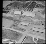 Aerial photographs of the Miling wheat bin, 2 Dec. 1963