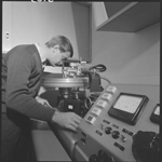 345982PD: Recording onto a vinyl LP, 1968.