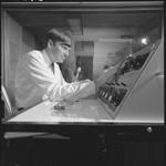 345983PD: Martin Clarke adjusting sound quality, 1968.